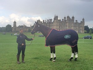 Alex and CR in front of Burghley House