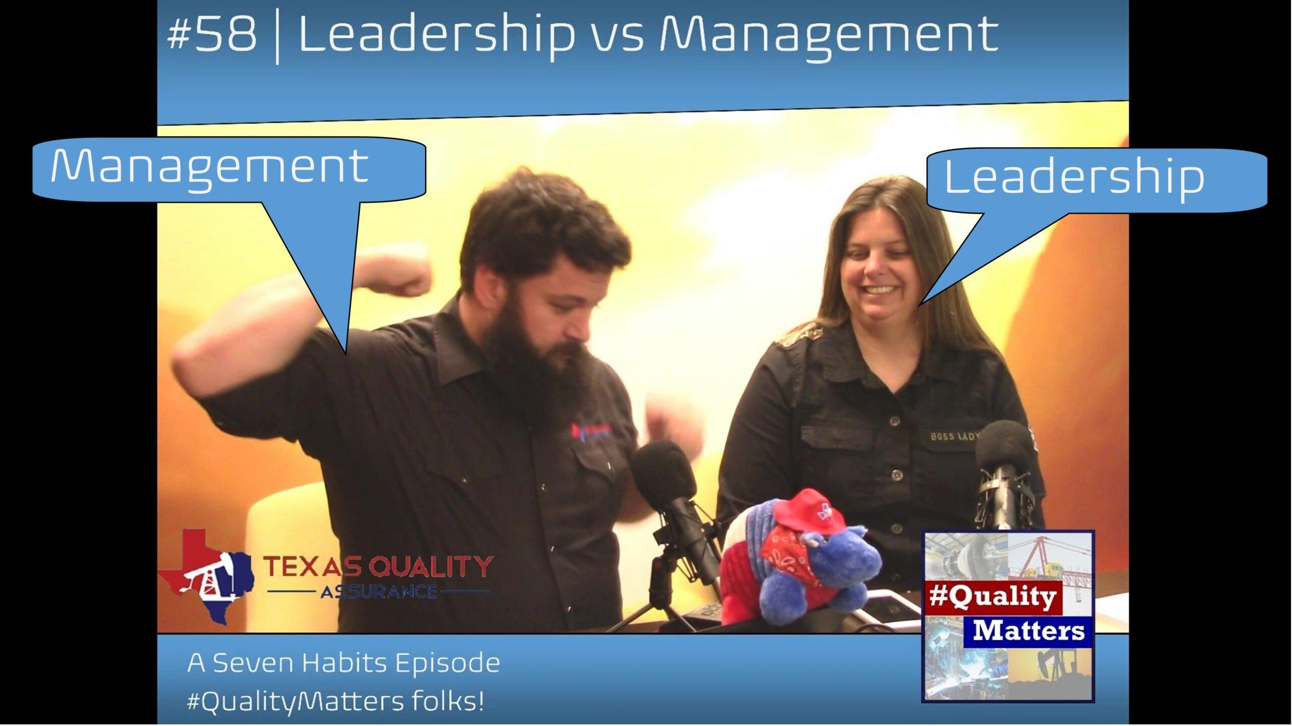 Leadership vs Management - Seven Habits