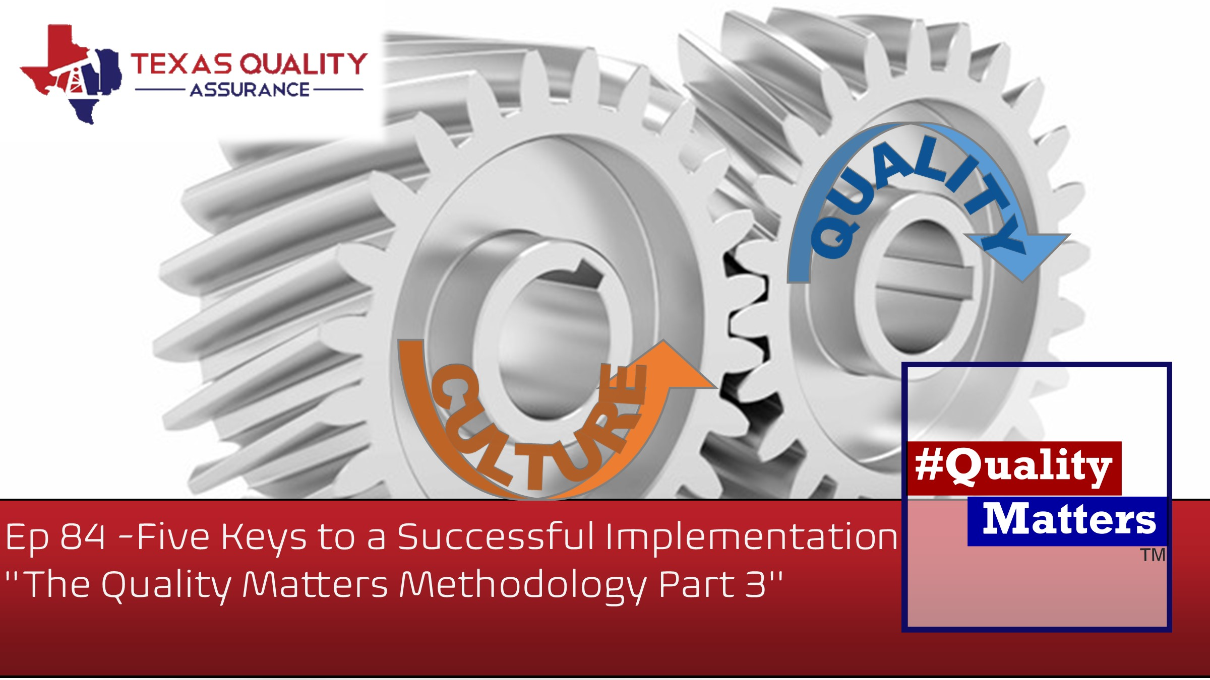 """Ep 84 -Five Keys to a Successful Implementation  """"The Quality Matters Methodology Part 3"""""""