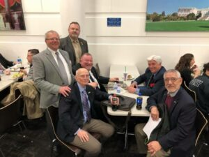 DAV 2019 Mid-Winter Conference - Day 2: DAV is on the Hill! WI, CA and MT having lunch between appointments.