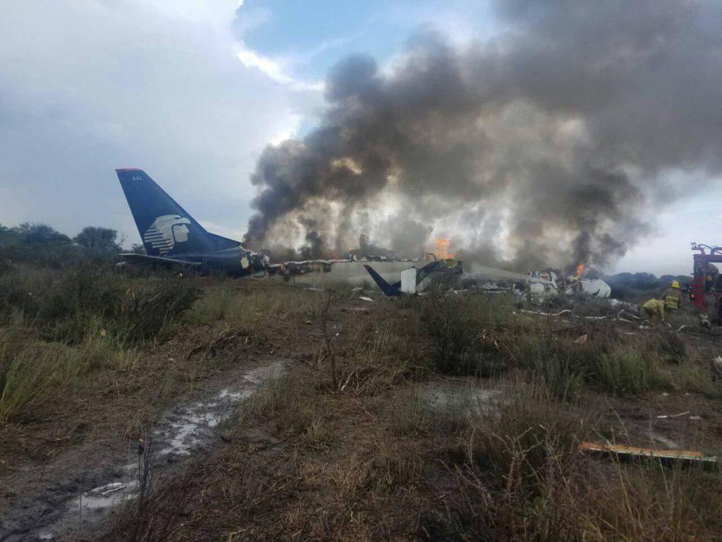 No hay fallecidos en el desplome del avión de Aeroméxico en Durango