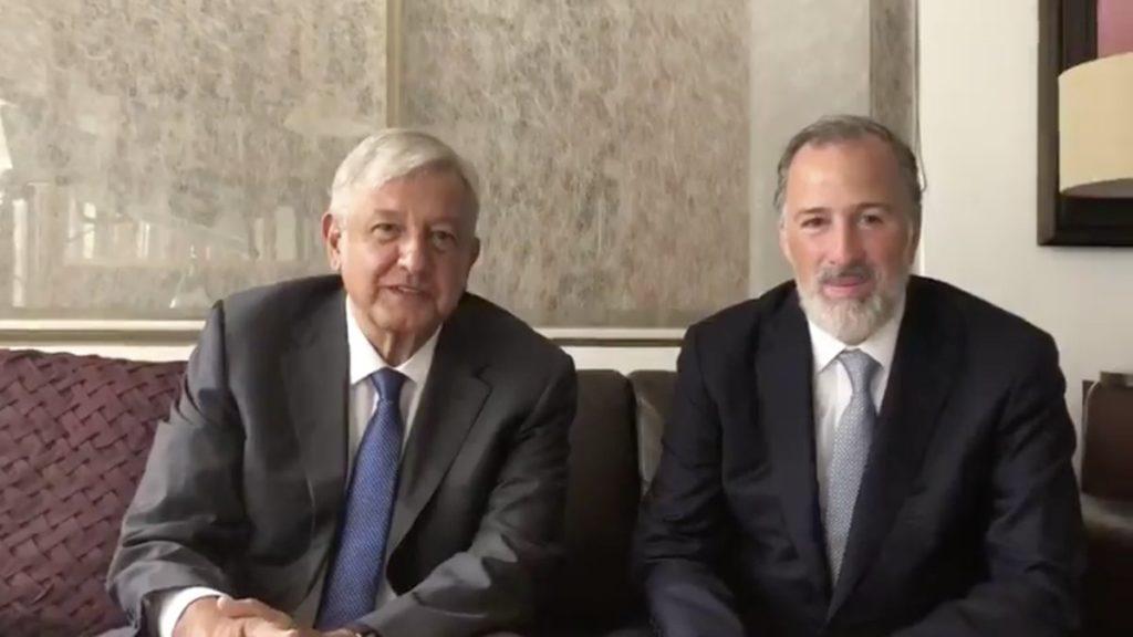 Se reúne Obrador y José Antonio Meade