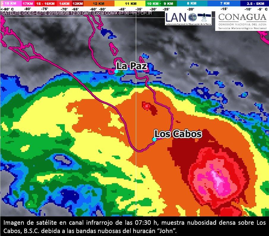 Suspenden clases en Los Cabosante el paso del huracán John