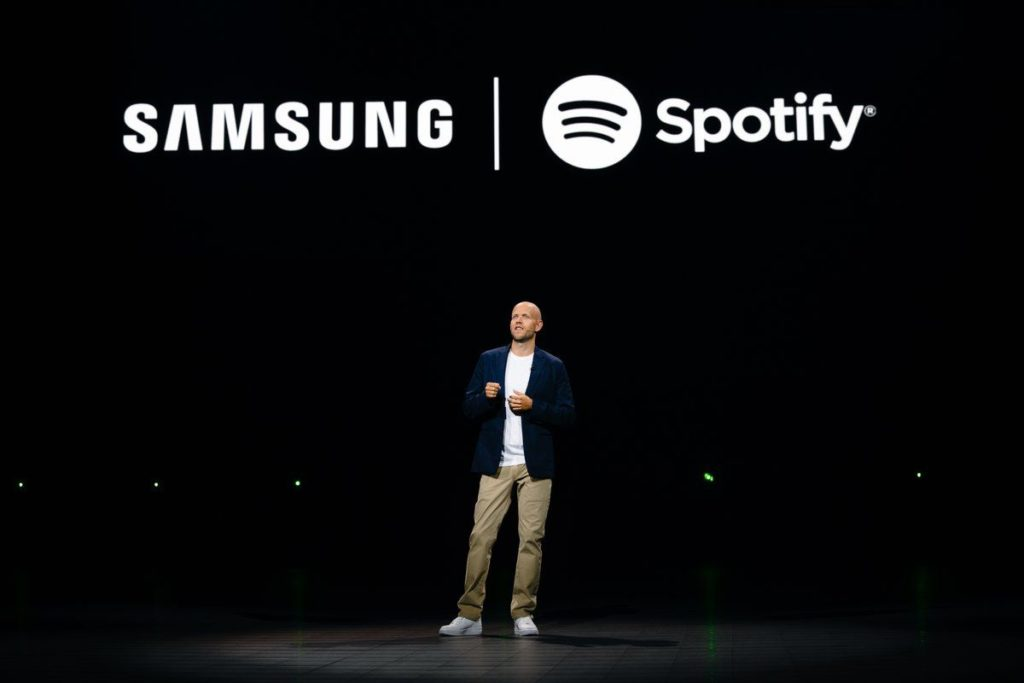 Spotify y Samsung se unen para competir contra Apple