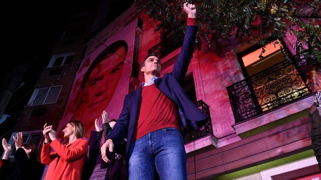 Gana PSOE las elecciones en España pero Vox ya es tercera fuerza electoral