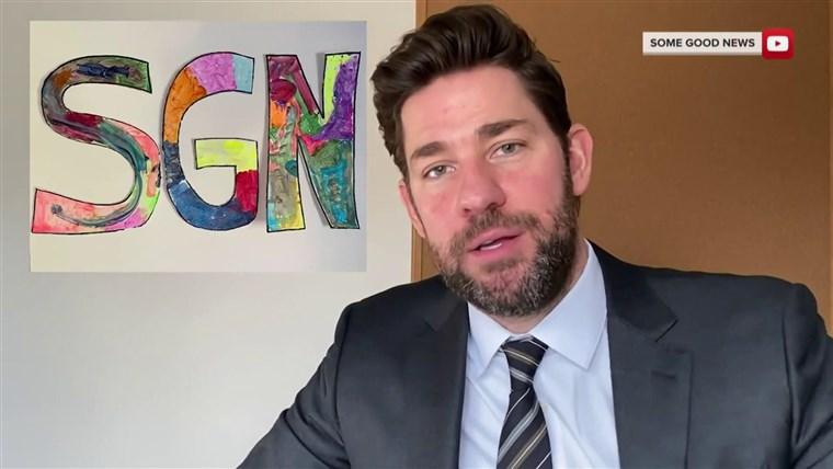 ¡Algunas buenas noticias! John Krasinski transmite videos y anécdotas positivas para hacernos sonreír