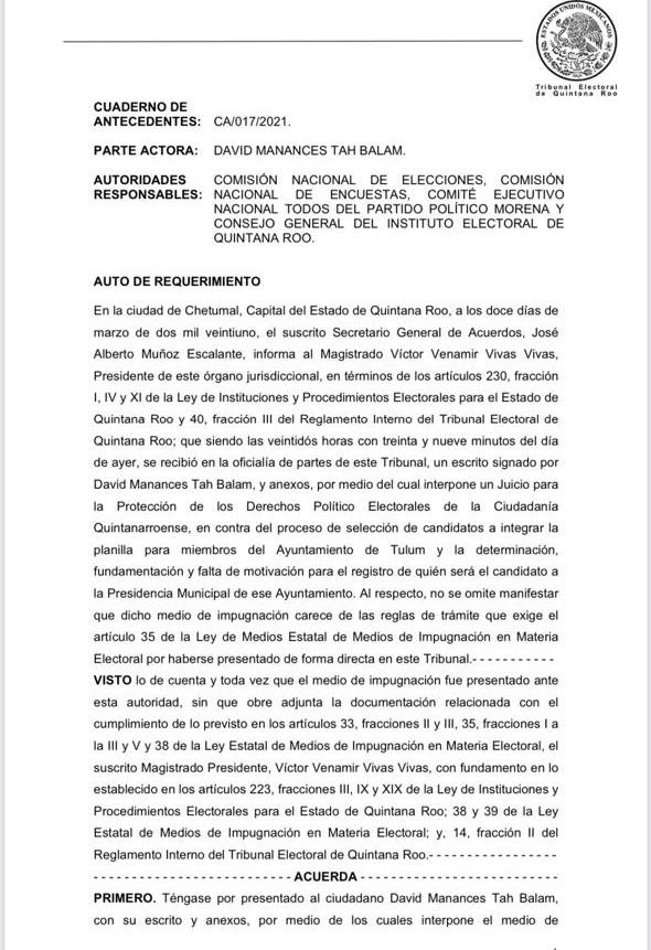 Repudian fundadores de Morena imposición de Marciano Dzul, impugnan en Tulum su candidatura