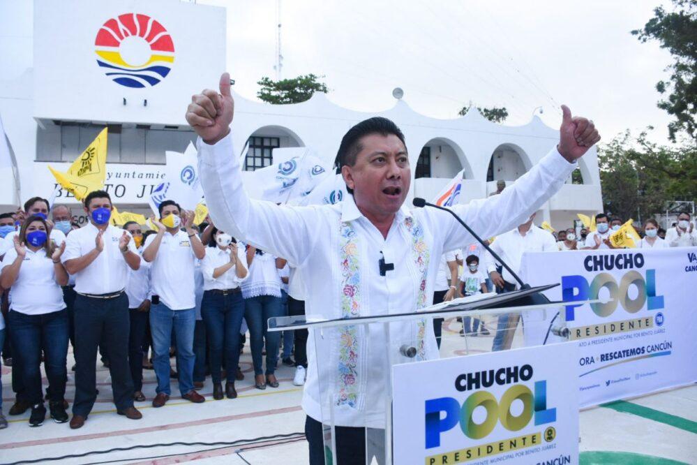 Con los ciudadanos vamos a rescatar Cancún: Chucho Pool