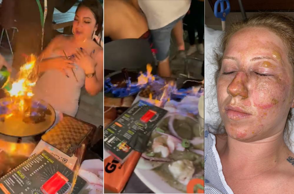 VIDEO: Turistas festejaban y salieron con quemaduras en el bar Guanatos de Cancún (imágenes sensibles