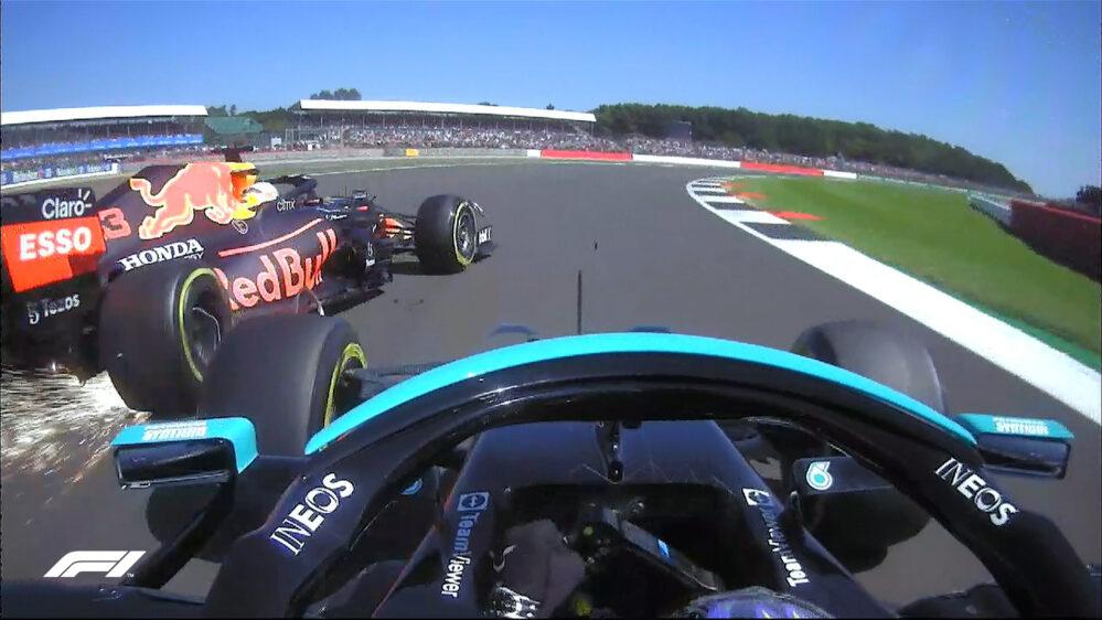 Hamilton gana en Silverstone muy cuestionado por sacar con un golpe a Verstappen