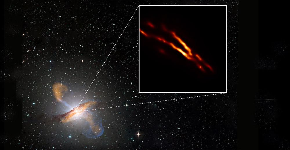 Imágenes inéditas de chorros de plasma de pequeños agujeros negros