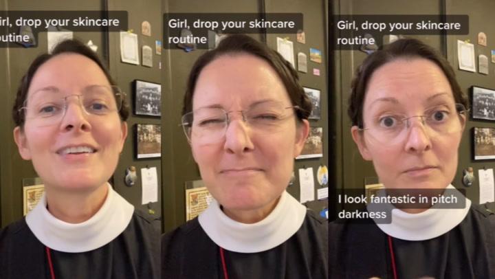 Monja es viral porque comparte en TikTok consejos de belleza para tener la piel suavecita
