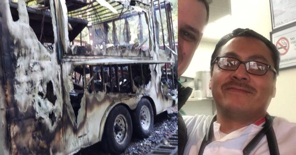 ¡Luciano perdió su taquería y su casa! Al empresario latino se le quemó el negocio y su hogar