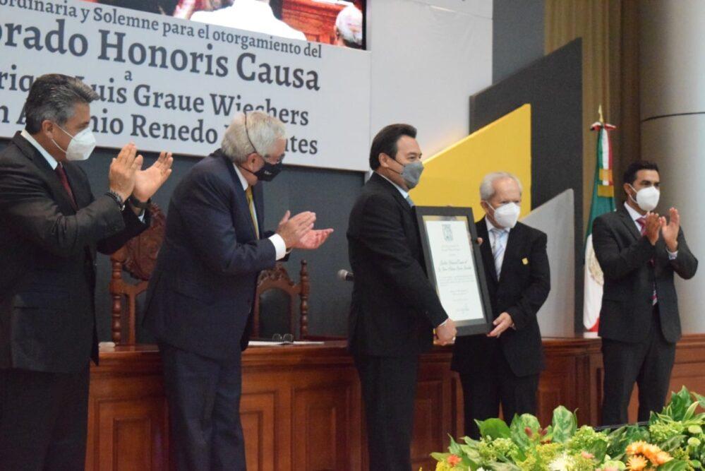 Campeche: Doctorado Honoris Causa a Enrique Graue y Juan Antonio Renedo Dorantes