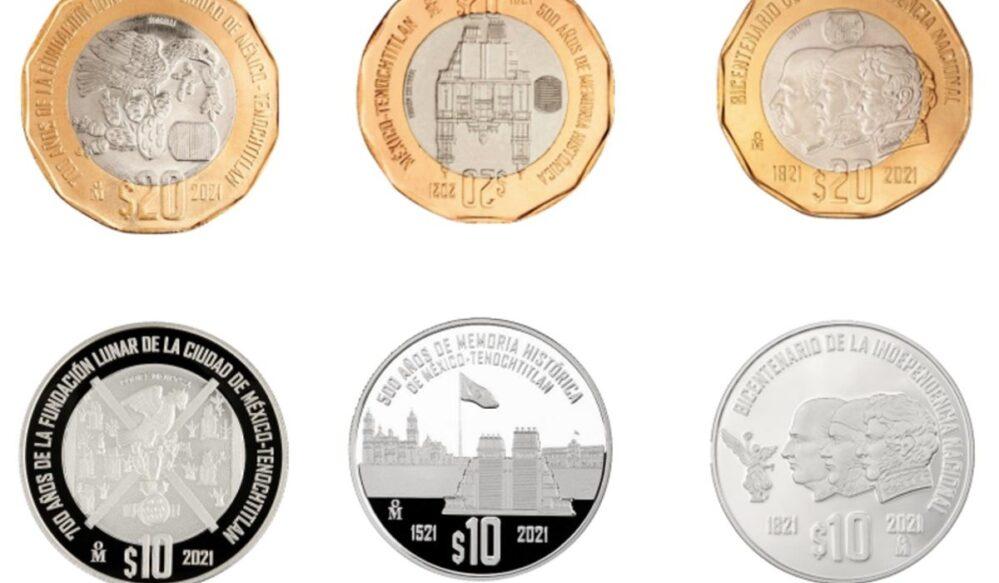 Banco de México lanza seis monedas conmemorativas de la Independencia