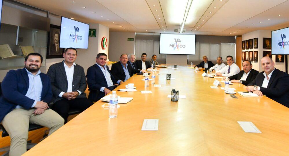 Alito Moreno recibe a líderes del PAN-PRD, asegura que alianza «Va por México» sigue firme