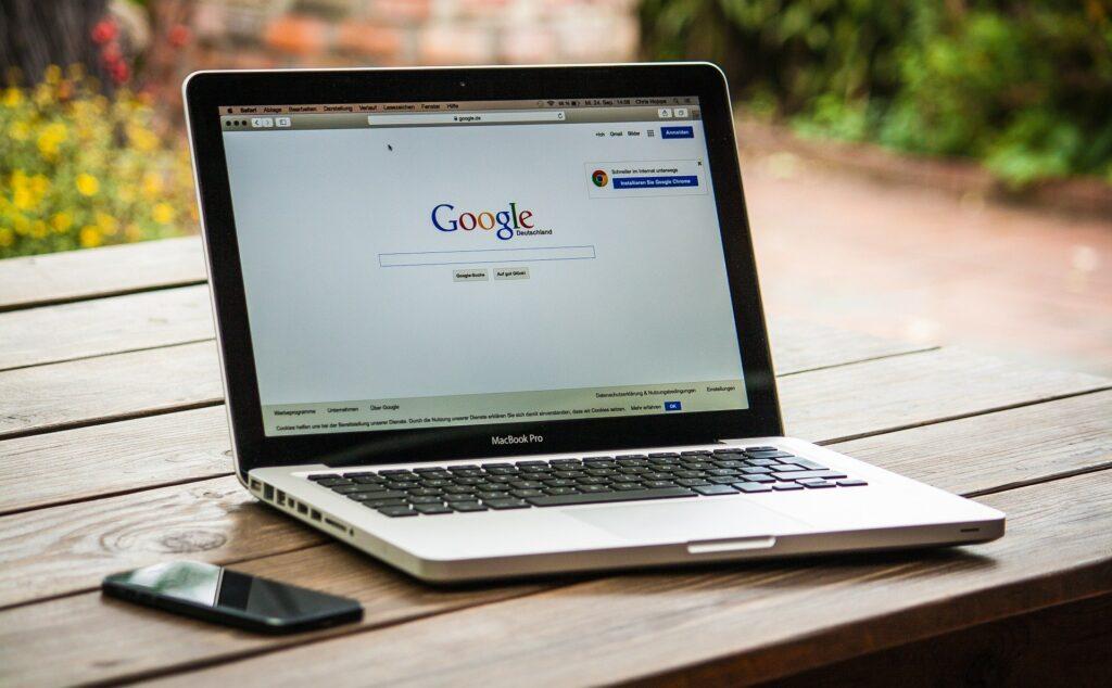 macbook-pro-with-google-search-engine-digital-marketing-trends-shirudigi