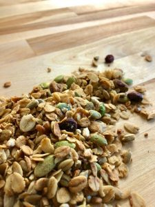 granola with nuts and fruit