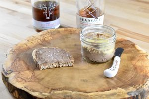 maple whisky liver spread on toast