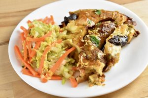 toad in the hole with carrot and cabbage stir fry