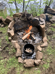 potjie next to fire