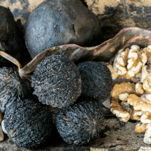 different stages of black walnuts