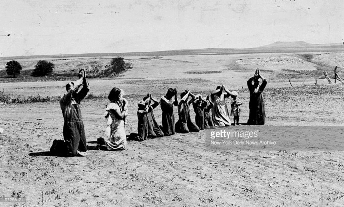 Praying for rain in Oklahoma during the Dust Bowl.