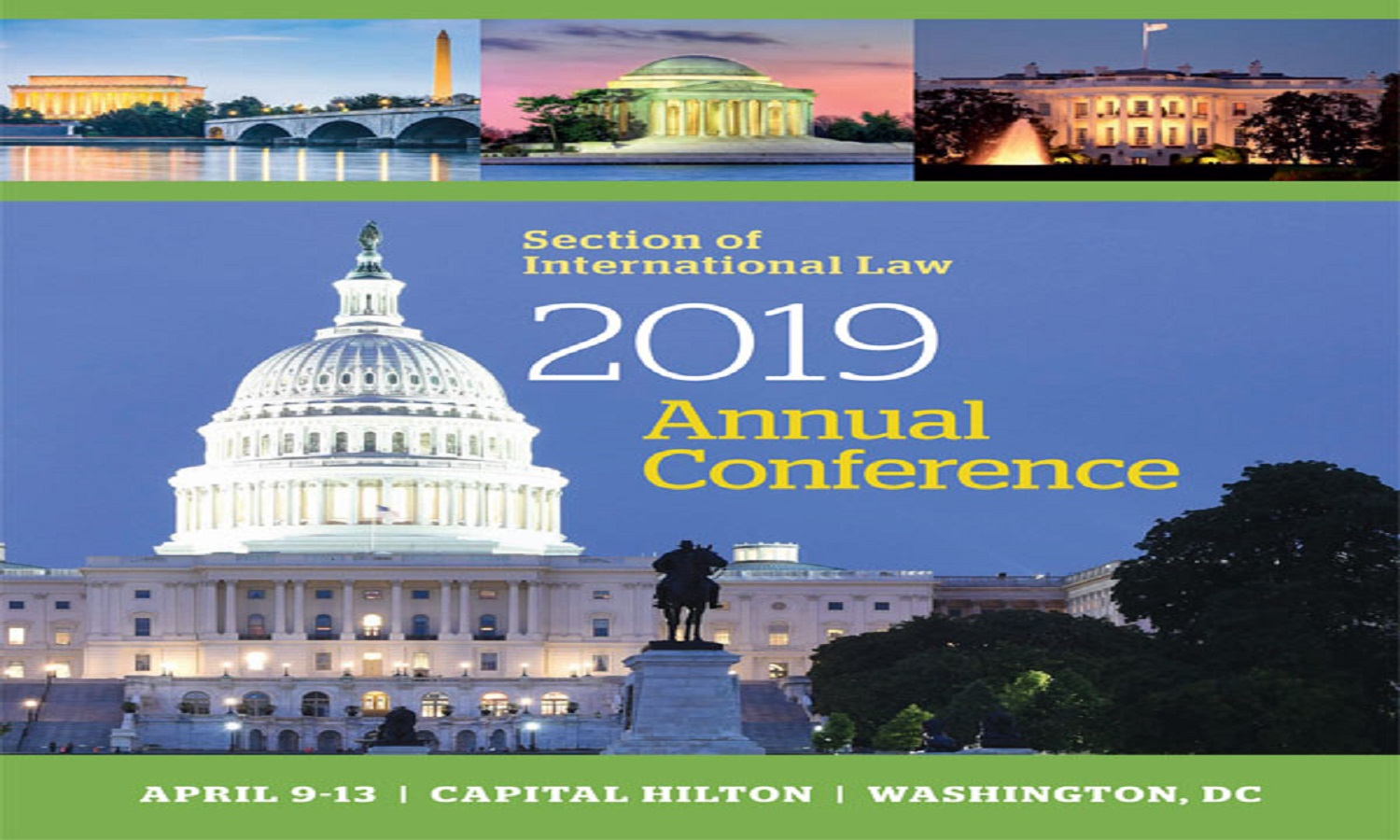ABA Section of International Law's Annual Conference – April 9 – 12