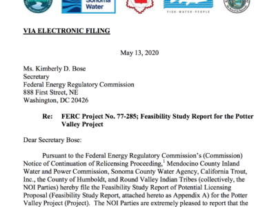 Screenshot of Potter Valley Feasibility Study