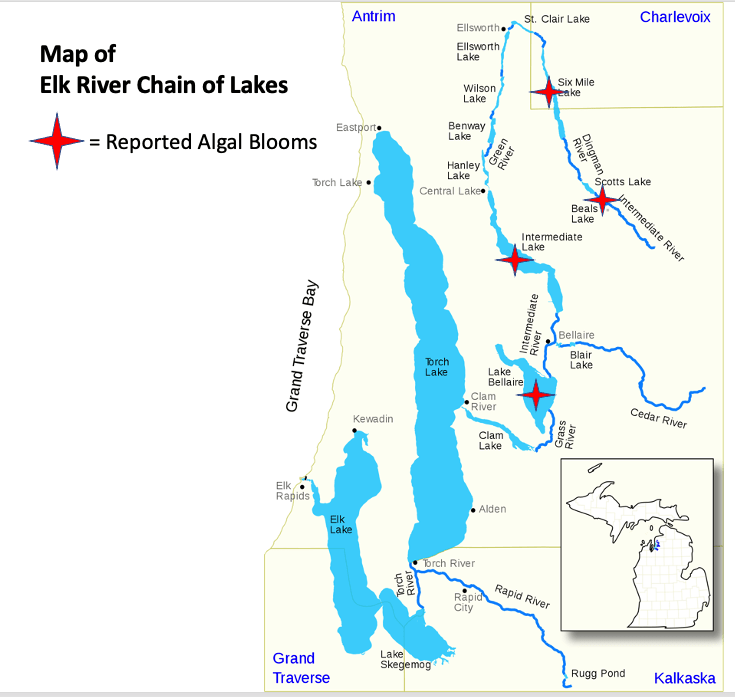 Map of Elk River Chain of Lakes