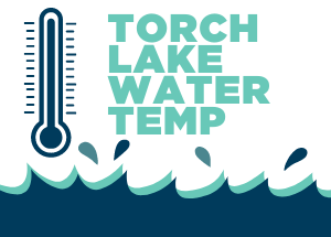 Torch Lake water temperature thermometer icon