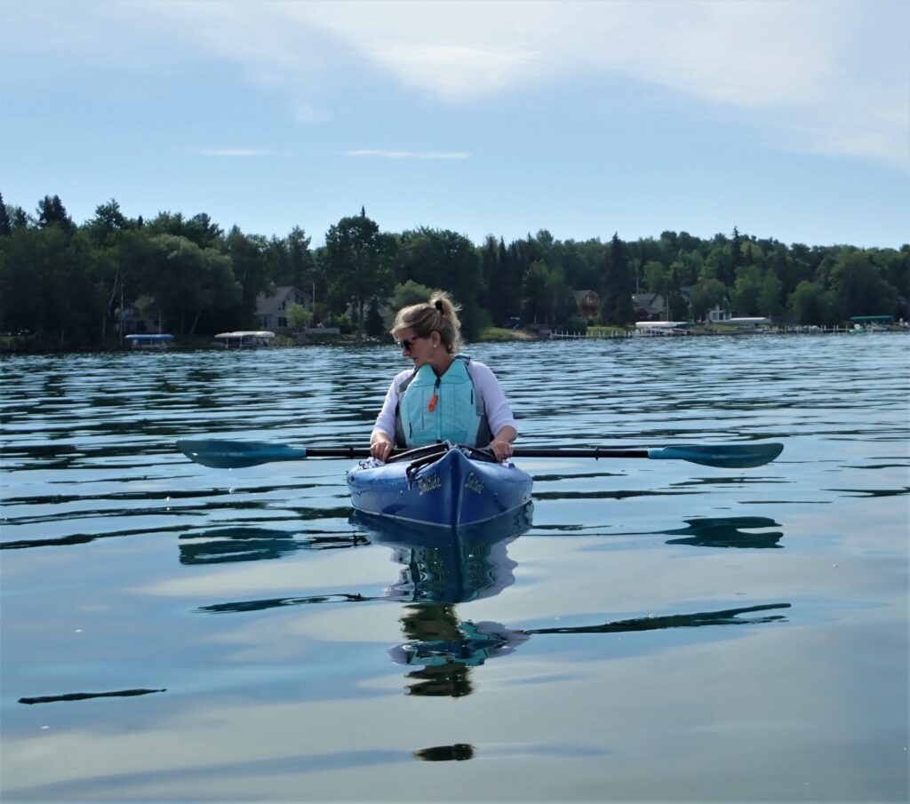 paddling on Torch Lake