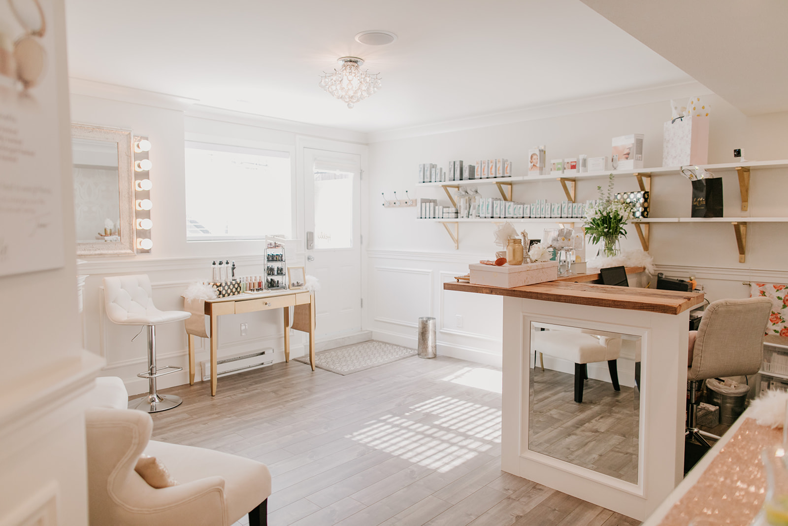 La Chic Skin Boutique front office in Langley