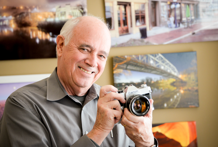 Gene Burch capturing the essence of Frankfort through a lens