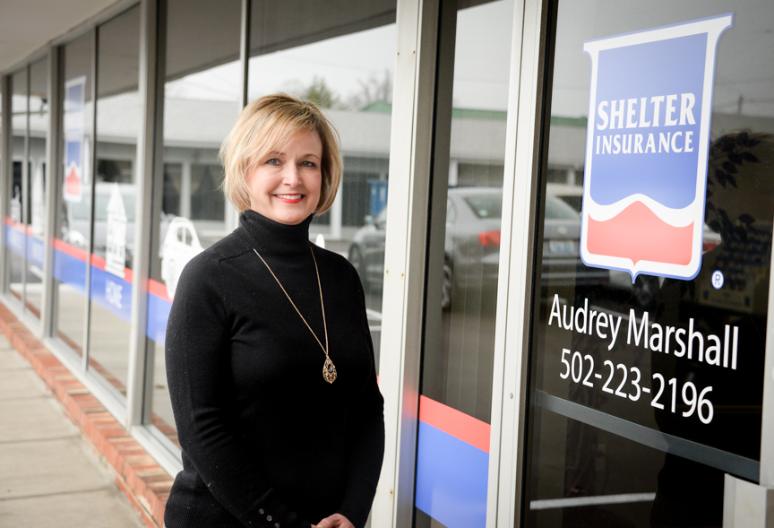 Shelter Insurance's Audrey Marshall is there through good, bad