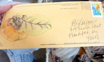 Mail art: Longtime friends Ellen Glasgow and Sandra MacDiarmid exchange handwritten letters with intricate drawings on the envelopes for more than 60 years