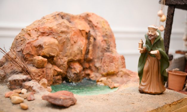Telling his story: Silvia Viso builds large, authentic nativity