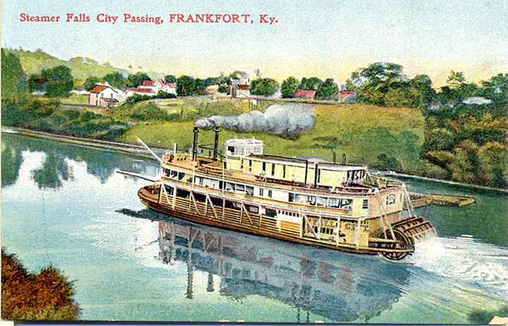 Packet boats able to tame the wild Kentucky River in 19th century