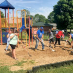 Sponsored content: Collaboration helps clean up community attraction; Independence Bank employees volunteer time to improve eyesore