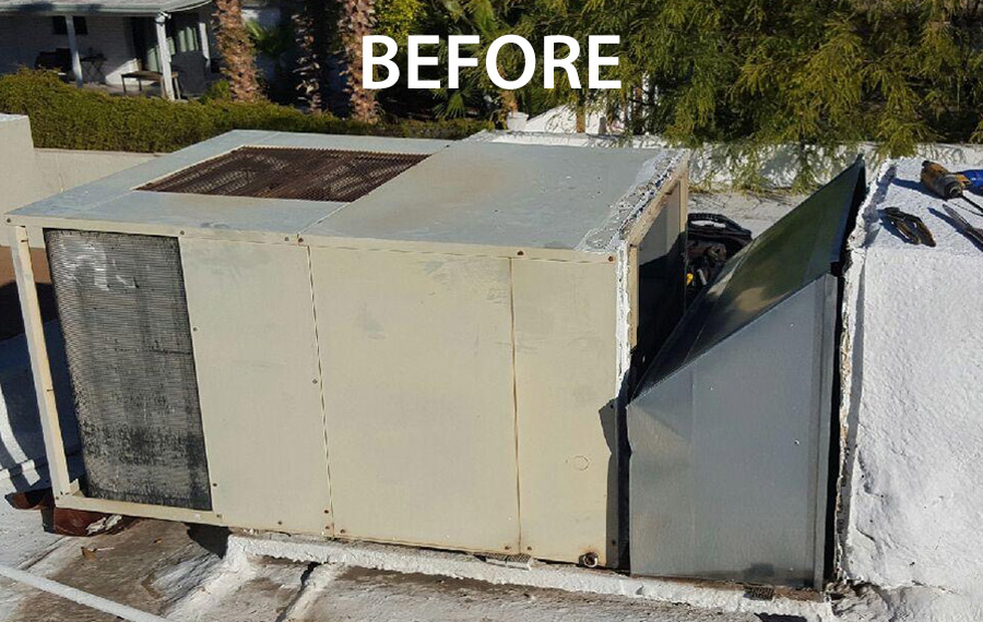 AC Replacement Before Photo