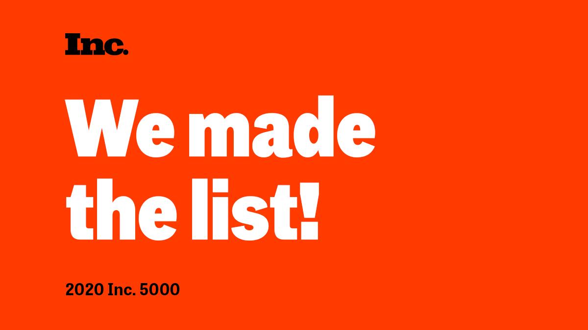 Inc 5000 We Made The List