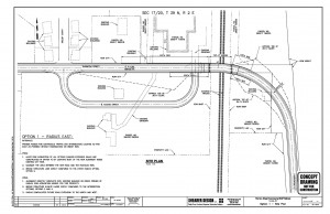 Current design proposal for the Thornton to I-5 connection. Cost est: about $22,000,000