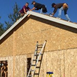 Jon assisting new homeowners build their new homes on South Church Rd