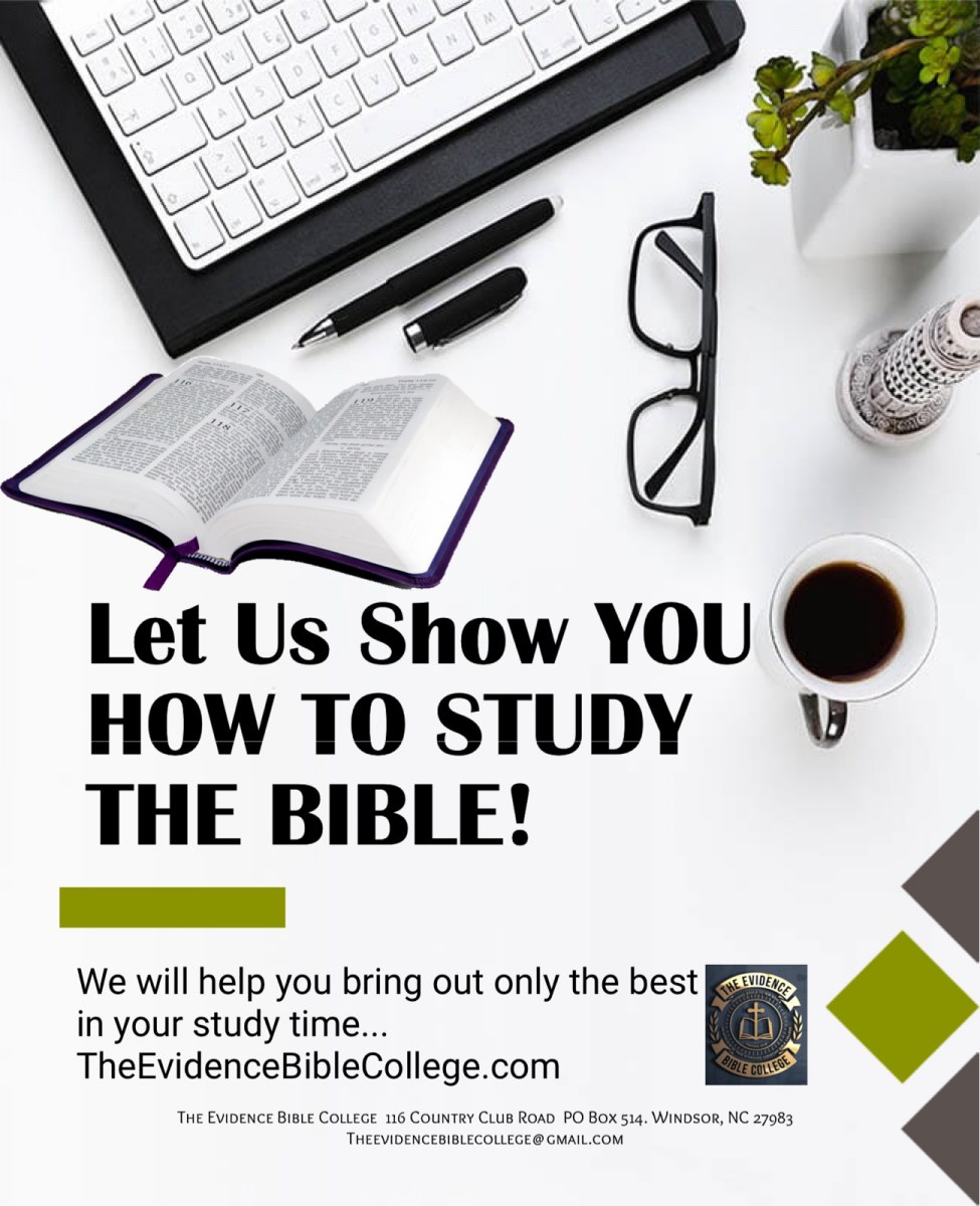 Let us show you how to study the Bible at The Evidence Bible College