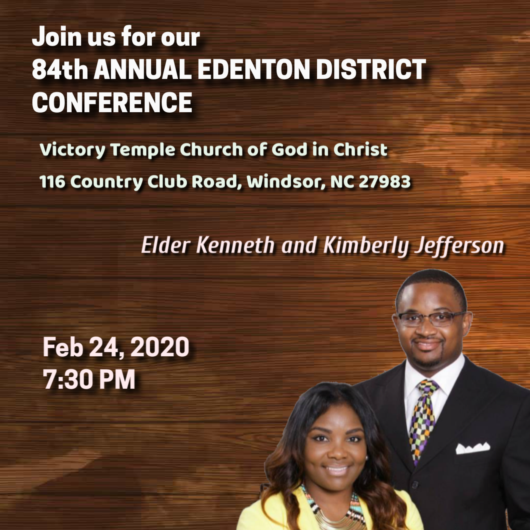 84th Annual Edenton District Conference, Monday Night - Elder Kenneth Jefferson Jr