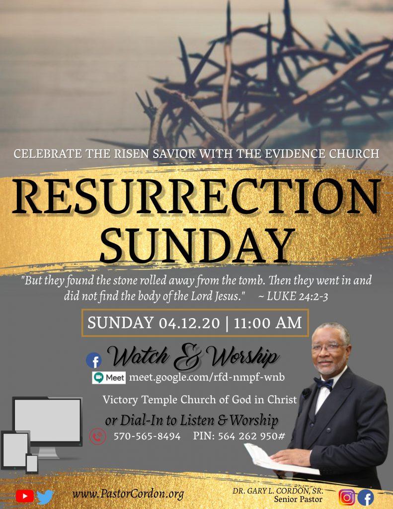 April 12, 2020 at 11 AM worship experience