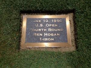 DSC02721 Merion Ben Hogan plaque in 18th fairway DS