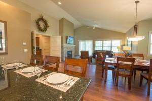 kitchen+villa living room villa DS