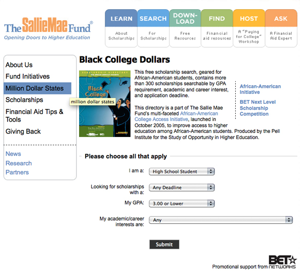 Black College Dollars Screen