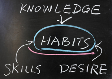 The relationship between habits and knowledge skills desire
